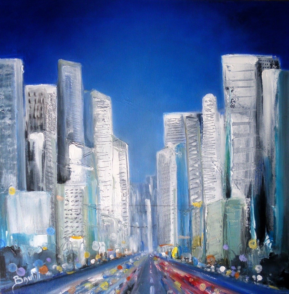 City Blue - Copyright Bruni Eric