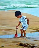 Children on the beach - Bruni Eric